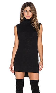 Michael Stars Sleeveless Turtleneck Tunic in Black