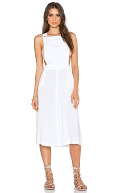 Michael Stars Apron Midi Dress in White