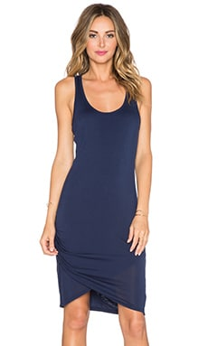 Michael Stars Scoop Neck Wrap Dress in Passport
