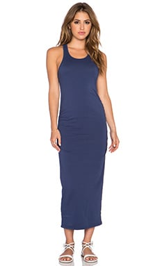 Michael Stars Shirred Racerback Midi Dress in Passport