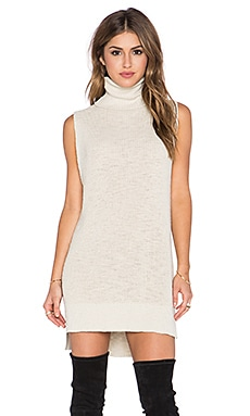 Michael Stars Sleeveless Turtleneck Tunic in Parchment