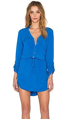 Mini Shirt Dress in Pacific
