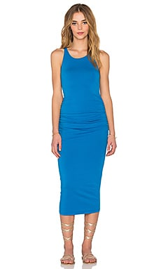 Michael Stars Racerback Shirred Midi Dress in Pacific