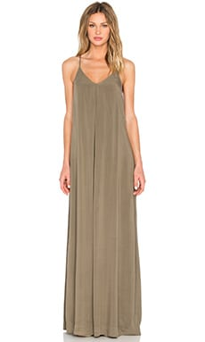 Maxi Slip Dress in Olive Moss