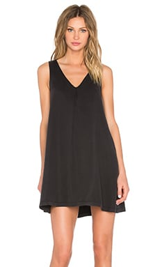 V Neck Tank Dress in Black