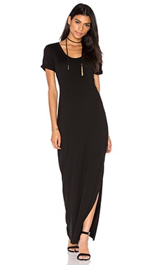 Michael Stars Back Twist Dress in Black