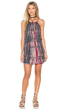 Naomi Wash Tie Dye Halter Tank Dress in Oxide
