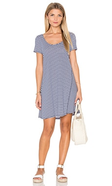 Zuma Stripe Mini Stripe A Line Dress in Nocturnal