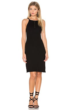 Michael Stars 2x1 Rib Cami Tank Dress in Black