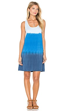 Sunset Wash Scoop Neck Tank Dress in Lapis Lazuli