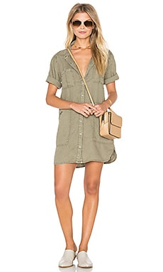 Michael Stars Utility Dress in Olive Moss