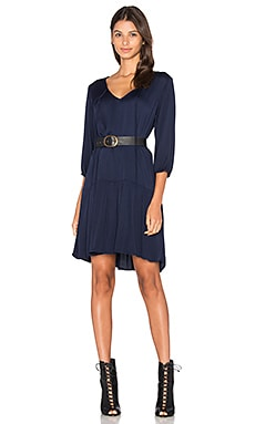 Michael Stars 3/4 Sleeve Drop Waist Dress in Nocturnal