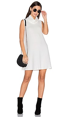 Sleeveless Cowl Shift Dress in Ivory