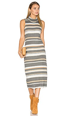 Sleeveless Cowl Neck Midi Dress in Heather Grey