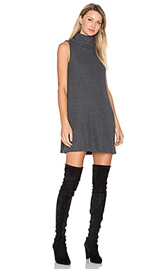 Cowl Shift Dress in Charcoal
