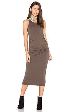 Racerback Dress en Khaki Green