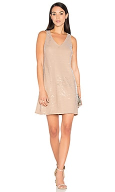 Sequin Mini Dress in Chai & Silver
