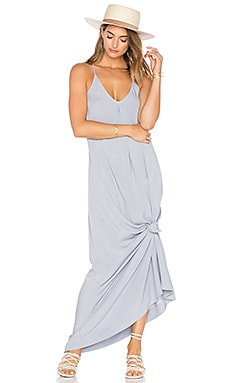 Slip Maxi Dress in Silver Fox