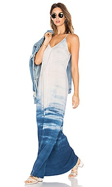 Slip Maxi Dress in Cosmic Blue Haze Wash