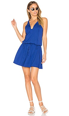 Tied Mini Dress in Lapis Azul