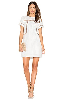 Dobby Stripe Dress in Ivory Stripe