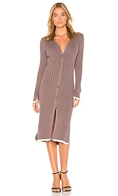 Ribbed Cardigan Dress