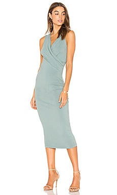 Faux Wrap Tank Midi Dress