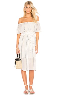 Beach Stripe Ruffle Dress Michael Stars $178 BEST SELLER