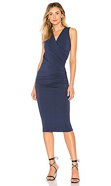 Faux Wrap Tank Midi Dress Michael Stars $98 NEW ARRIVAL