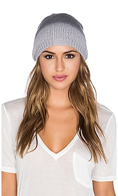 Michael Stars Softest Ombre Slouch Beanie in Black