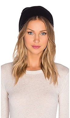 Michael Stars Not So Basic Slouch Beanie in Black
