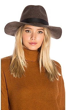 World Traveler Wide Brim Hat in Heather Java
