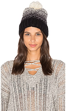 Seeded Ombre Beanie in Black