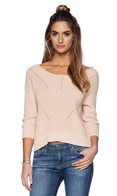 Michael Stars 3/4 Sleeve Crop Sweater in Blush