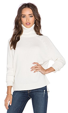 Michael Stars Long Sleeve Turtleneck Sweater in Ivory