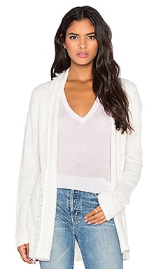 Michael Stars Fringe Open Cardigan in Ivory
