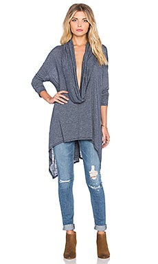 Michael Stars Asymmetrical Cowl Neck Poncho in Nocturnal