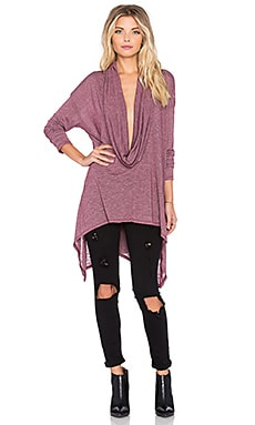 Michael Stars Asymmetrical Cowl Neck Poncho in Velvet