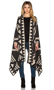Michael Stars Desert Triangle Knit Cape in Oxide