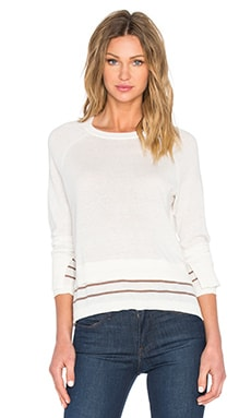 Michael Stars Stripe Pullover Top in Ivory