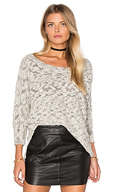 Michael Stars Boatneck Dolman Sweater in Ivory & Black