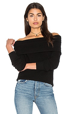 Off The Shoulder Tunic en Noir