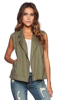 Michael Stars Sleeveless Moto Vest in Cargo