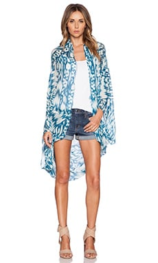 Michael Stars Brushed Batik Cape in Azul