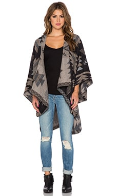 Michael Stars Fireside Blanket Cape in Black