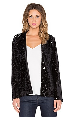 Michael Stars Long Sleeve Jacket in Black
