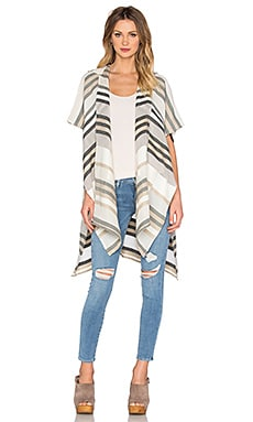 Sand Striped Cape in Oyster