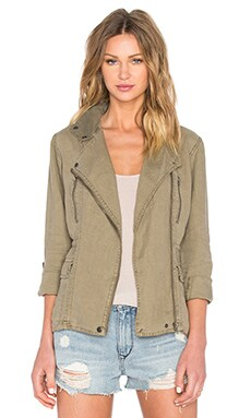 Michael Stars Moto Jacket in Olive Mass