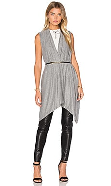 Michael Stars Draped Blanket Vest in Heather Grey
