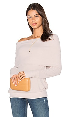 Michael Stars Long Sleeve Convertible Top in Sweet Pea
